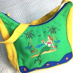 Kulanui Trademark  Cloth Beach Mermaid Purse Vtg